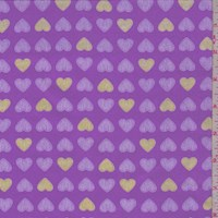 "Lavender ""Heart of Gold"" Print Cotton"