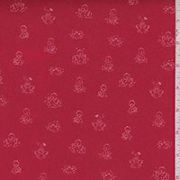 "Red ""Ducks in a Row"" Print Cotton"