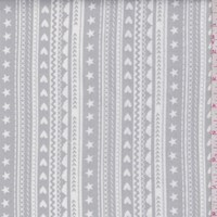 "Fog Grey ""Celestial Stripe"" Print Cotton"