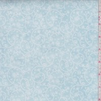 "Breeze Blue ""Surrey"" Floral Print Cotton"