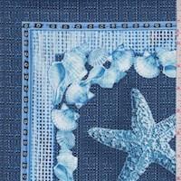 "Blue ""Beachcomber Patch"" Print Cotton"