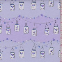 "Lavender ""Twinkle Twinkle Little Jars"" Print Cotton Flannel"