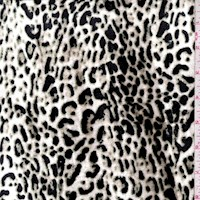 White/Jade/Black Cheetah Print Stretch Velvet