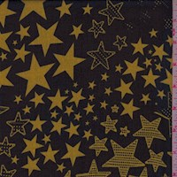 Black/Cumin Star Silk Chiffon