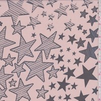 Antique Rose/Slate Star Silk Chiffon