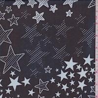 Black/Mist Star Silk Chiffon