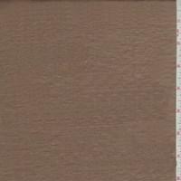 Pale Copper Brown Silk Shantung Satin
