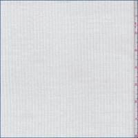 White Double Rib Sweater Knit