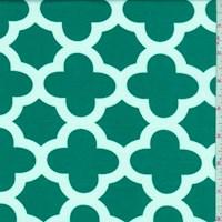 Emerald Quatrefoil Print Activewear Knit