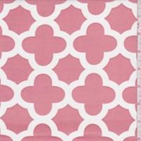 Clay Pink Quatrefoil Print Activewear Knit