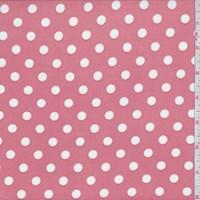 Clay Pink Dot Print Activewear Knit