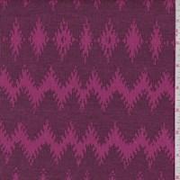 Magenta Diamond Chevron Jacquard Double Knit