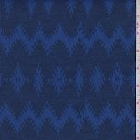 Sapphire Diamond Chevron Jacquard Double Knit