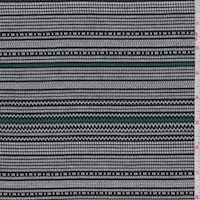 Kelly/Black/White Pixel Double Knit