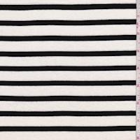 Ivory/Black Stripe Rayon Jersey Knit