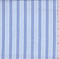 Pale Blue/Blue Stripe Cotton Shirting