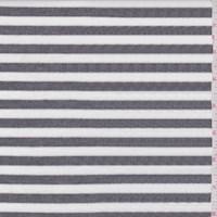 White/Charcoal Stripe Rib Knit