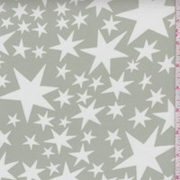 Silver Sage/White Star Georgette