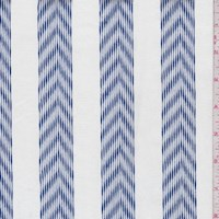 White/Royal Chevron Stripe Canvas