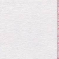 White Slub Cotton/Linen Jersey Knit