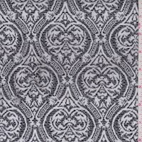 Pewter Baroque Jacquard Double Knit