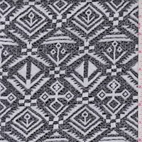 Pewter Geo Jacquard Double Knit