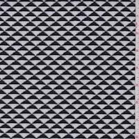 White/Black Pyramid Jacquard Double Knit
