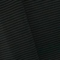 5 1/2 YD PC--Midnight Gray/Black Stripe Rib Knit