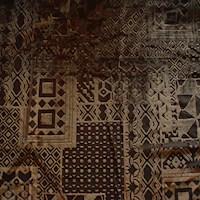 Coffee Brown/Black Panel Bandana Burnout Velvet Knit