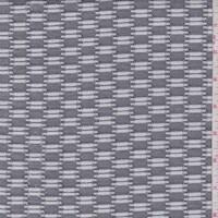 White/Black Deco Check Jacquard Double Knit