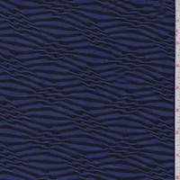 Violet Diamond Stripe Puckered Jersey Knit
