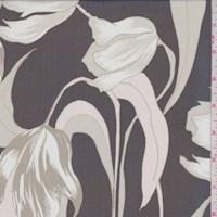 Black/Taupe Modern Tulip Silk Chiffon