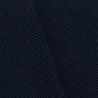 1 YD PC--Deep Blue/Black Wool Blend Herringbone Coating