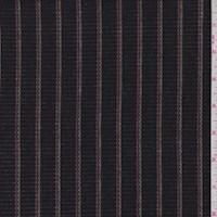 Black Rayon Stripe Rib Knit