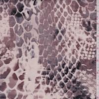 Beige/Cocoa/Stone Snakeskin Rayon Jersey Knit