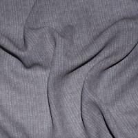 *7 3/4 YD PC -- Coral Beige/Gray Stripe Printed Silk Chiffon
