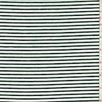 Ivory/Moss Stripe Rayon Jersey Knit
