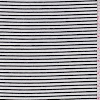 White/Black Stripe Rayon Jersey Knit