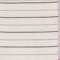 Oatmeal/Hunter Stripe Linen Blend