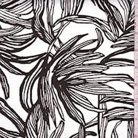 White/Walnut Botanical Woven Cotton