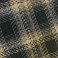*3 1/4 YD PC-- Brown/Black/Beige Wool Blend Plaid Jacketing