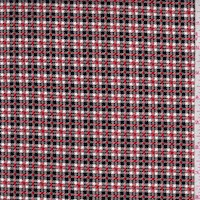White/Cherry/Black Mini Plaid Velveteen