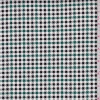 White/Kelly/Black Mini Houndstooth Check Velveteen