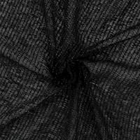 *1 YD PC--Black/White Stripe Knit Mesh