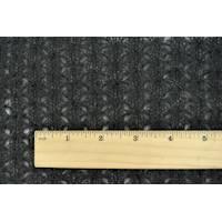 *5 YD PC--Matte Black Wool Blend Loose Sweater Knit
