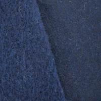 *2 YD PC--Night Navy Blue Wool Blend Sweatshirt Fleece