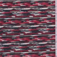 *2 YD PC--Black/Red/Beige Sweater Knit