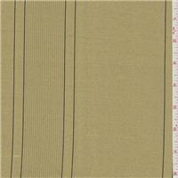 *2 5/8 YD PC--Metallic Gold Stripe Silk Drapery