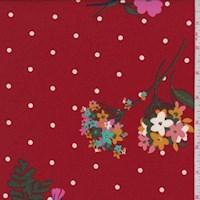 Garnet Floral Dot Double Brushed Jersey Knit