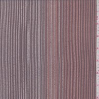 Dusty Plum Multi Pinstripe Silk Crepe de Chine